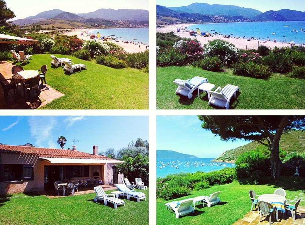 corse ajaccio golfe de lava location villa maison vue terrasse jardin vue plage pointe