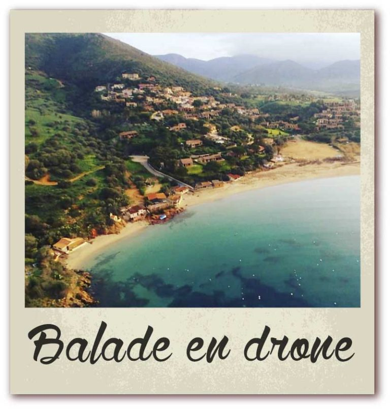 Polaroid livre or corse golfe de lava location villa balade en drone